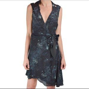 Haute Hippie silk sleeveless blazer wrap dress NWT